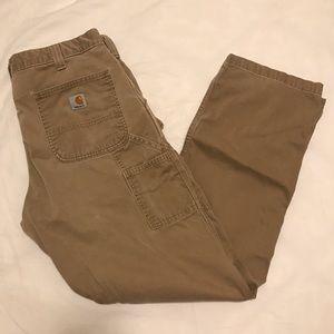perfectly worn-in carhartt carpenter cargo pants